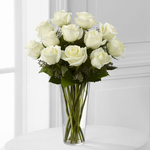 12 White Roses Arrangements