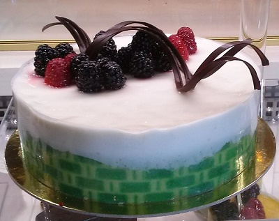 Kiwi Lemon Mousse Birthday Cake
