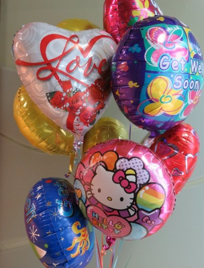 Fancy get well balloons