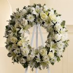 Funeral Wreath White