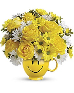 smiley face arrangement