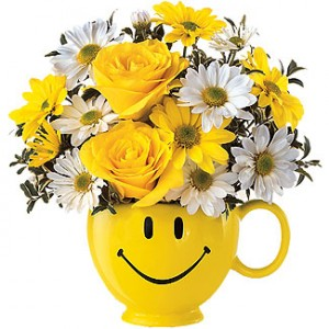 Be Happy Mug Bouquet