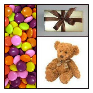 Candy Teddy Chocolate Gift Combo