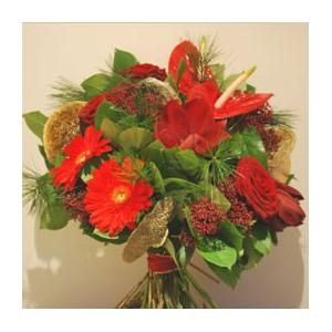 Festive Red Bouquet
