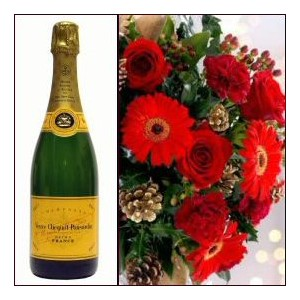 French Champagne with Flowers
