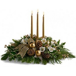 Golden Candle Centerpiece