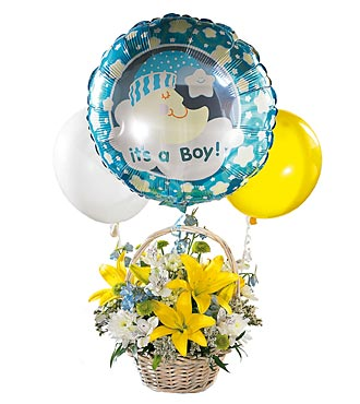 New Born Baby Boy Arrangement