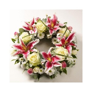 Roses and Lilies Wreath